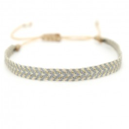 Argentinas grey and beige bracelet