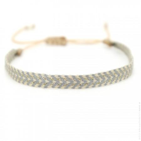 Bracelet Argentinas gris beige doré