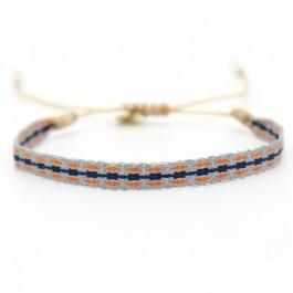 Argentinas navy grey orange bracelet
