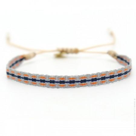 Bracelet Argentinas orange gris marine