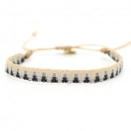 Argentinas dark grey and beige bracelet