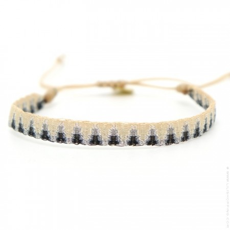 Bracelet Argentinas anthracite et beige