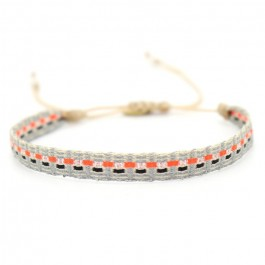 Argentinas grey navy orange bracelet