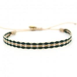 Argentinas dark green and gold bracelet