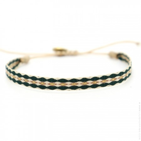 Bracelet Argentinas vert forêt doré