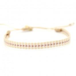 Argentinas rose gold and beige bracelet