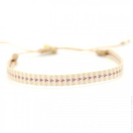 Bracelet Argentinas beige et or rose