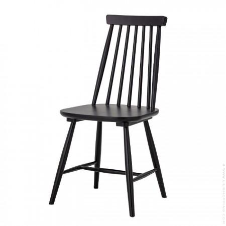 Chaise bois noir à barreaux Gilli