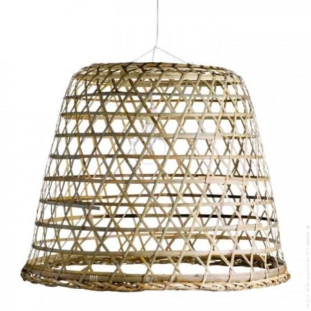 Basdome M rattan basket - lampshade