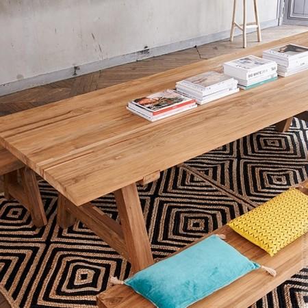 2m Cantina teak table
