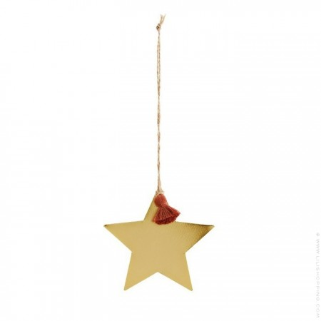 Small hanging gold stars